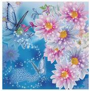 """Пакет с пластиковой ручкой """"Голубая бабочка"""" фото"""