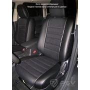 Чехлы Mitsubishi Outlander 12 чер-сер эко-кожа Оригинал фото