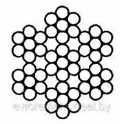 Трос двойной свивки типа ЛК-0 конструкции 6 х 7 (1 + 6) + 1 х 7(1 + 6) ГОСТ 3066-80 фото