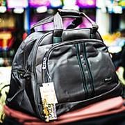 Дорожная сумка Happypeople большого размера 50х25х32см темно-коричневая фото
