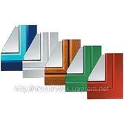 Ламинированные ( Цветные) Металлопластиковые Окна и Двери Харьков фото