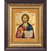 Толгский монастырь Спаситель (Господь Иисус Христос), писанная икона в киоте Высота иконы 21 см фото