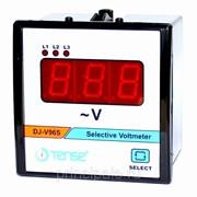 Электронный вольтметр на 3 фазы щитовой панельный 96х96 мм фото