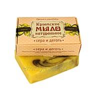 Крымское мыло натуральное сера и деготь фото