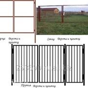 Ворота и калитки садовые фото