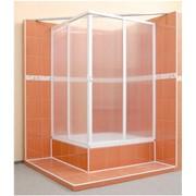 Уголок душевой (пластик) 2-х стенный, 2 двери, вход с угла фото