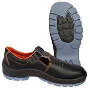 Сандалии с металлическим подноском кожаные полиуретан / теропластичный полиуретан фото
