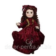 Кукла коллекционная Марина в бордовом платье 23 см 136067 фото