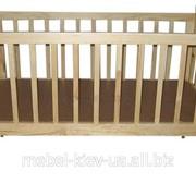 Кроватка детская Манеж из натурального дерева фото