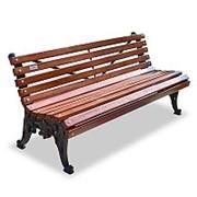 """Скамейка чугунная """"Белые ночи"""", кресло, 0,6м фото"""