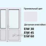 Противопожарные двупольные двери фото