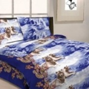 Ткань постельная Бязь 125 гр/м2 150 см Набивная Зимняя охота 4105-1/S238 TDT фото