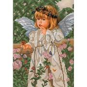 Схема для вышивки бисером Ангелочек и бабочки КМР 4150 фото
