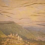Создание фресок,Фреска на гибком песчаннике. фото
