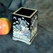 Карандашница, инкрустированная натуральным перламутром USEL-MP29 фото