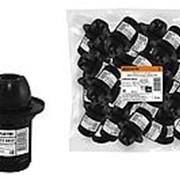 Патрон Е14 с кольцом, термостойкий пластик, черный, TDM фото