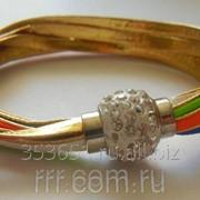 Разноцветный браслет с камнем шамбала .334