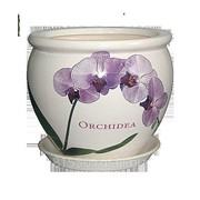 Горшок для цветов керамический Вьетнам №3 Бел Орхидея фото