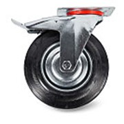 Колесо поворотное тормоз рез. SCb 55 125мм фото