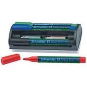 Набор маркеров для досок и флипчартов Schneider Maxx110, 3мм, 4цв/уп+ губка, картриджи S11098 фото