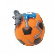 Игрушка Мышь на футбольном мяче резиновая 10 см 27799282 НОВИНКА фото