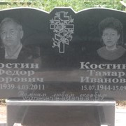 Семейный памятник на двоих фото