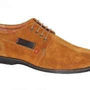 Туфли Замшевые , цвет рыжий фото