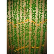 Шторы разноцветные из бамбуковых палочек, лепестков и подсолнечников (90*200) 8616 56310 фото