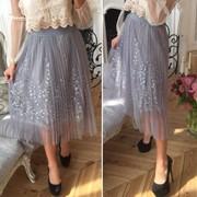 Женская летняя юбка миди, в расцветках (ОК-6-0418) фото