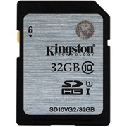 Карта памяти SDHC 32GB UHS-I Class 10 Kingston (SD10VG2/32GB)