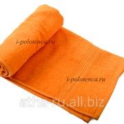 Простынь махровая, без бордюра (Оранжевый) фото