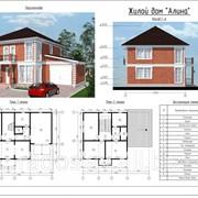 """Комплект панелей для строительства двухэтажного жилого дома """"Алина"""" фото"""