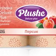 Трехслойная туалетная бумага высшего качества Deluxе Plus Персик фото