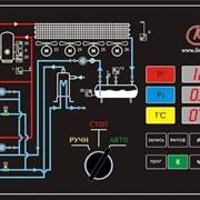 Мнемосхема и органы управления системы управления для двух компрессорного агрегата Лайнкул фото