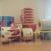 Самоклейкі етикетки для харчової промисловості фото