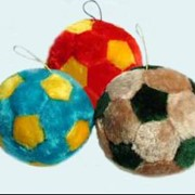Игрушка мяч меховой фото