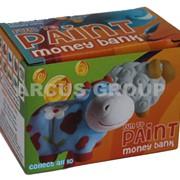 Барельеф-копилка с красками, Кошечки 2 штуки в упаковке. Коробка. фото