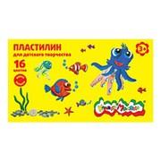 Пластилин 16 цветов Каляка-Маляка для детского творчества 240 г со стеком 3+ фото