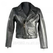 Женская кожаная мотокуртка gs719, косуха фото