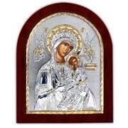 Страстная Икона Божией Матери Silver Axion серебро 925 с позолотом на деревянной основе 55 х 70 мм фото