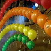 Изготовление декоративных композиций из шаров фото