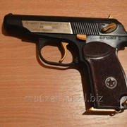 Сигнальный пистолет Макарова МР-371 именной с позолотой (бакелитовая рукоять) фото