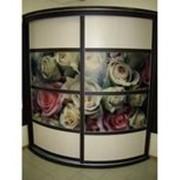 Радиусный шкаф-купе с розами фото