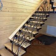 Лестница деревянная 1 фото
