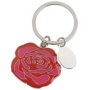 Брелок с шильдом «Роза» фото