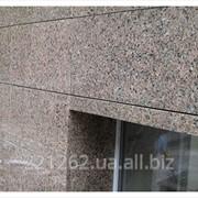 Плитка гранітна облицювальна полірована, Васильківське, коричневий, t=40 мм фото