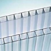 Поликарбонат сотовый 12000х2100х16 прозрачный фото