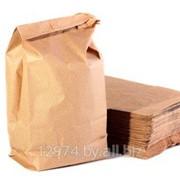 Мешки бумажные 4-х слойные открытым форматом вместимостью 25 кг, размер 100*51,5*9 фото