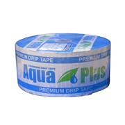 Капельная лента Аква Плюс AguaPlus 8 mil через 20 см 500 литров в час щелевая 1000м фото