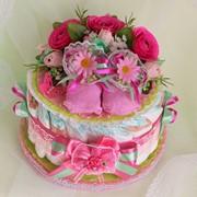 Торт з підгузників для дівчинки фото